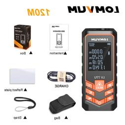 LOMVUM 120M Digital Laser Distance Meter Handheld USB Charge
