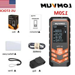 LOMVUM 120M Digital Laser Distance Meter USB Rangefinder Are