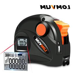 Lomvum 2 in1 Digital Laser Distance Meter Range Finder Tape
