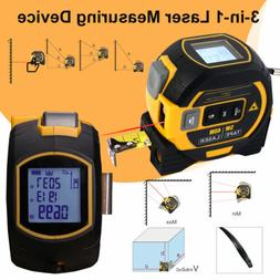 3-in-1 Laser Tape Measure Long-Distance Measuring 131 Ft Pyt