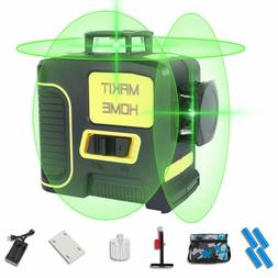 3D Green Beam Self Leveling Within 5° Laser Level Tool 3x36