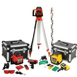 500m Self-Leveling Rotary Grade Laser Level Red/Green Tripod