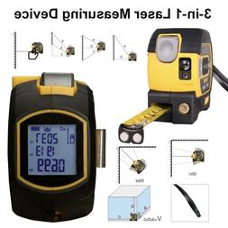 ALL-IN-ONE Laser Tape Measure Laser Level Tape Distance Meas