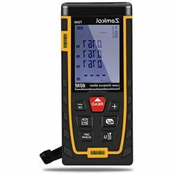 Laser Distance Measure Zamkol 196ft/60m With LCD Backlight S