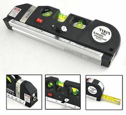 Laser Level Pro 3 Measuring Equipment W/ Adjustable Beam & 8