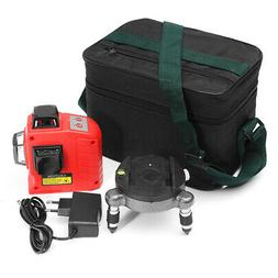 USA 3D Red Laser Level Self Leveling 12 Lines Horizontal Ver
